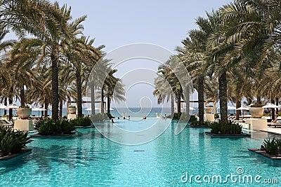 Swimming pool in Oman Editorial Stock Photo