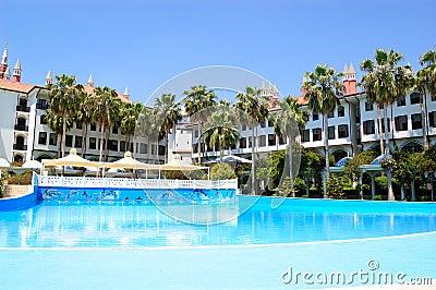 Swimming pool at popular hotel
