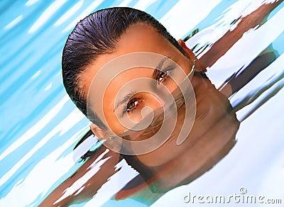 Swimming pool portrait