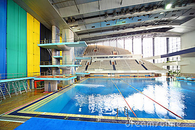 Swimming pool at preparation competitions