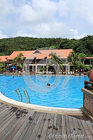 Swimming pool in resort Editorial Stock Photo