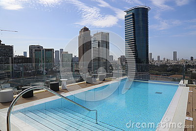 Swimming Pool On The Roof Of A Skyscraper Editorial Photography Image 38897907