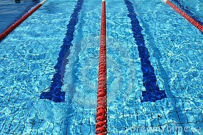 Swimming pool ropes