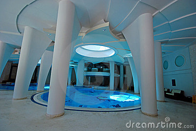 Swimming pool in a spa