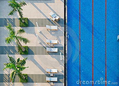 Swimming Pool and Sun beds