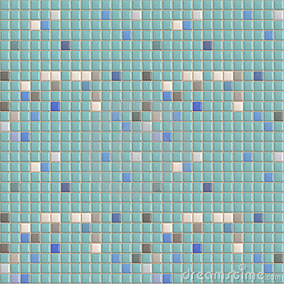 Swimming Pool Tiles Seamless Pattern