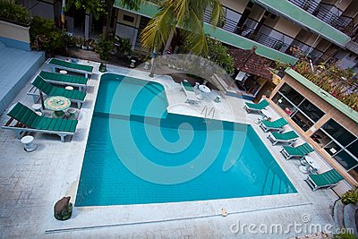Swimming pool top view