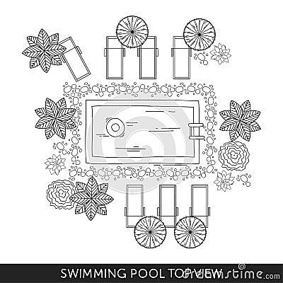 Free Swimming Pool Top View Stock Photos - 86057803