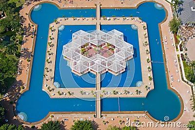 Swimming pool. Top view.