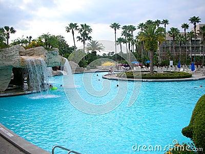 Swimming pool at the tropical resort