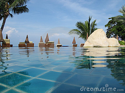 Swimming Pool in  Tropical Resort