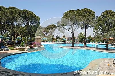 Swimming pool at Turkish hotel
