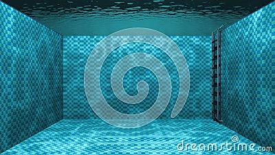 Swimming pool underwater scene