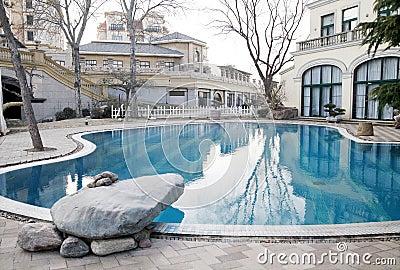 Swimming pool in the villa area