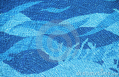 Swimming pool wave texture