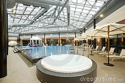 Swimming pools in a spa hotel