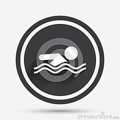 Free Swimming Sign Icon. Pool Swim Symbol. Royalty Free Stock Photo - 79591345