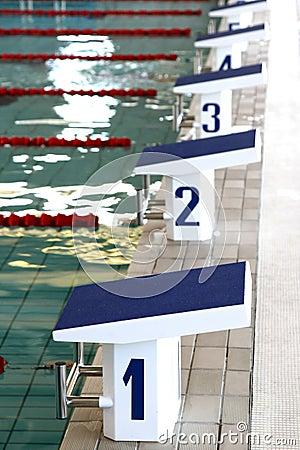 Swimming starting blocks stock photo image 17350710 for Swimming pool starting blocks dimensions