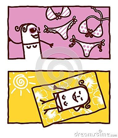 Swimsuits & sunbathing