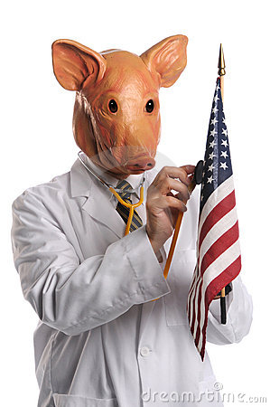 Swine Flu in America Concept