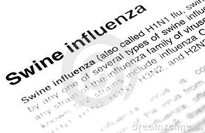 Swine flu or H1N1 virus text