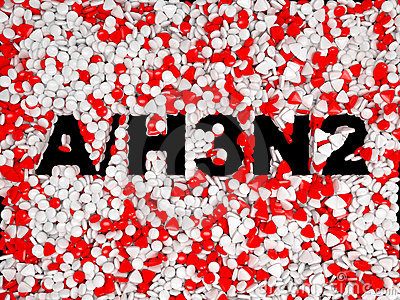 Swine Flu H3N2 epidemic pills background