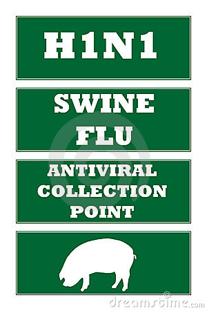Swine flu road signs