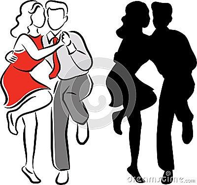 Swing Balboa Dance Couple/eps