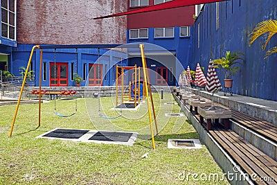 Swing in a children playground