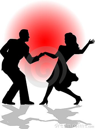 Free Swing Dance Couple/eps Stock Images - 1302514