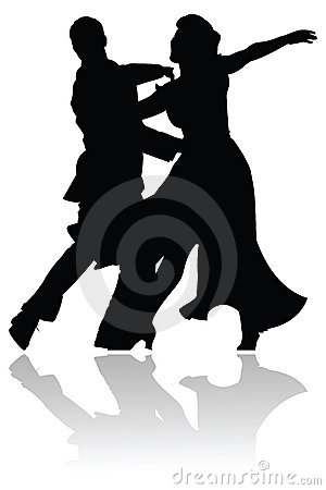 Swing Dance Couple Silhouette
