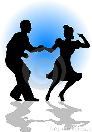 Free Swing Dancing Couple/eps Royalty Free Stock Photos - 6504808
