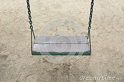 Swing in garden playground at park outdoor