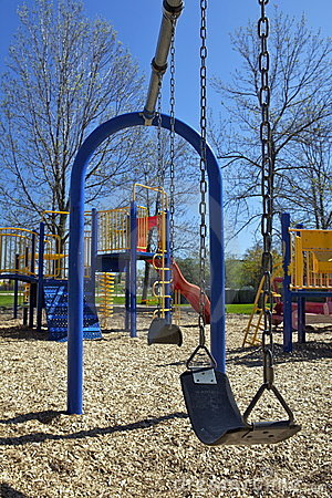 Free Swing Set In Playground Royalty Free Stock Photography - 14570017