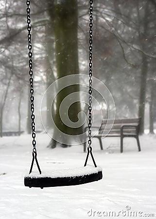 Swing in winter