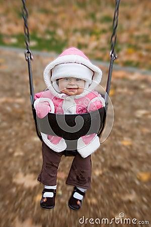 Swinging baby playground