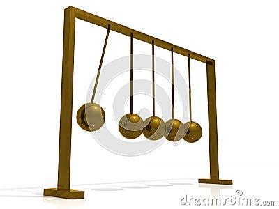 Swinging ball toy
