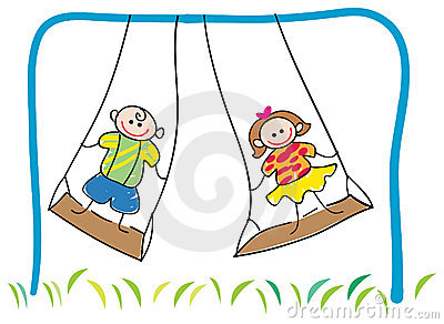 Swinging children
