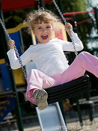 Free Swinging Girl Royalty Free Stock Photography - 14850047