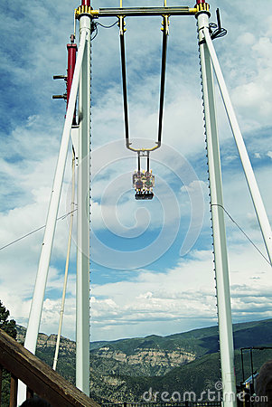 Swinging in the Mountains 2 Editorial Stock Image