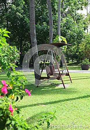 Free Swings At Beautiful  Park Royalty Free Stock Photo - 28599935