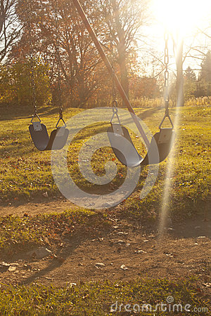Swings and Sunset