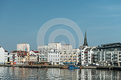 Swinoujscie - view from port Editorial Stock Photo