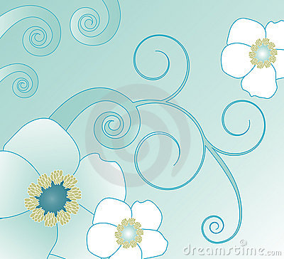 Free Swirl And Flower Illustration Royalty Free Stock Photo - 2247435