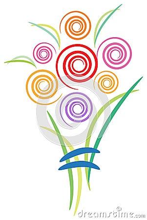 Swirl bouquet