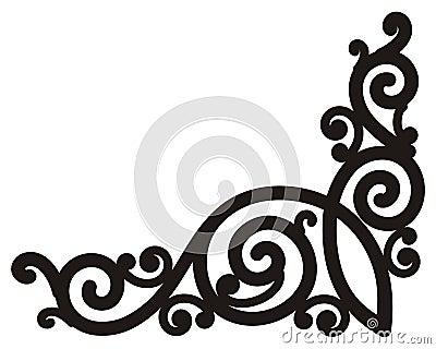 Swirl corner