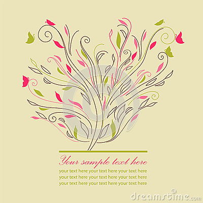 Swirl cute tree vector