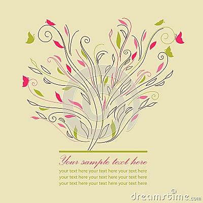 Swirl cute tree vector