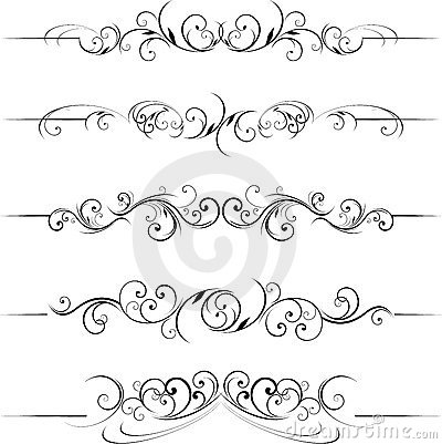 Free Swirl Decorative Floral Elements Stock Images - 14376034