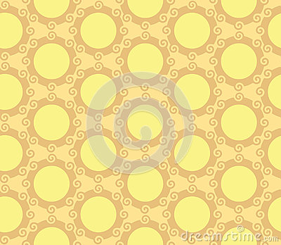 Swirling Circles Orb Seamless Pattern Background
